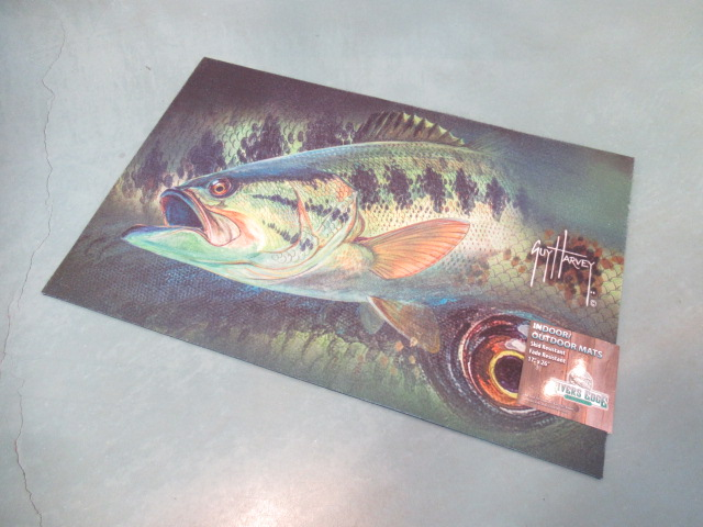 GUY HARVEY BASS DOOR MAT